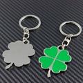 1pcs ALFA ROMEO quatrefoil green for Mito 147 156 159 166 Giulietta Spider GT car emblem keychain ring key chain car styling