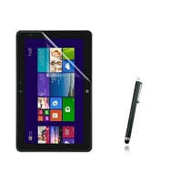 1x films + 1x Clean cloth + 1x Stylus , Clear LCD Screen Protector Protective Film Guards For Dell Venue 10 Pro 5000 5055 10.1