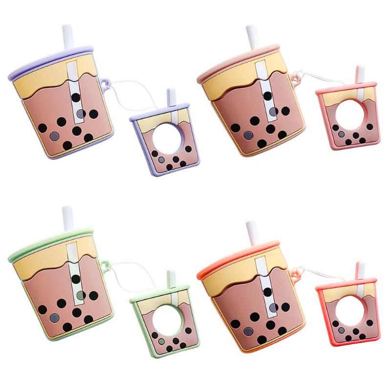 Cartoon Protective Case Silicone Bluetooth Earphone Cover for Apple Airpods