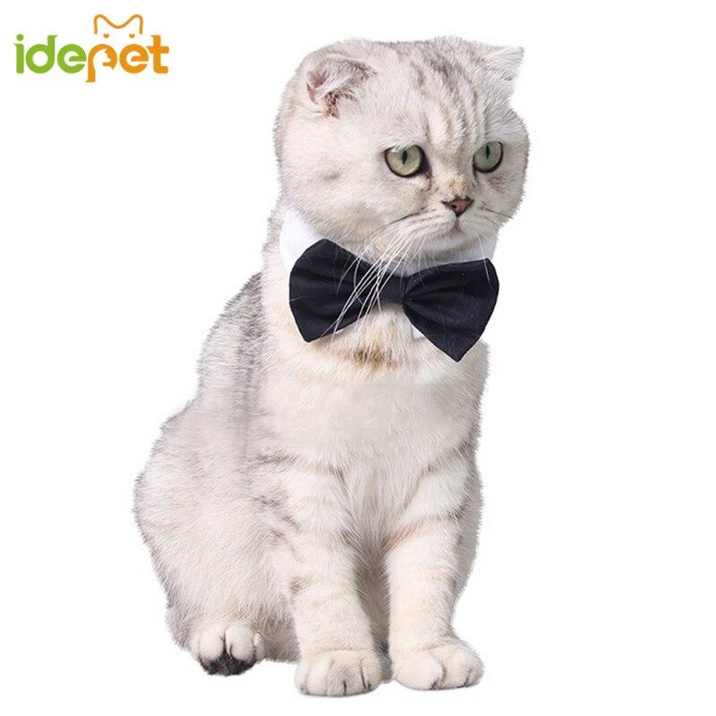 Gentleman Pet Cat Tie Cat Bow Tie Necktie For Kitten Costumes Clothes With Collar Grooming Pet Supplies Adjustable Ribbon Tie 3