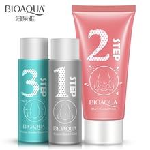 1 set bioaqua mud suction nose blackhead removal pore cleaning peel off acne treatmentsblack mask face mask set