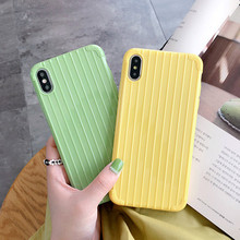 ciciber Fashion Anti-fall Suitcase Phone Case Cover For iPhone 7 8 6 6S Plus X XR XS MAX Back Soft Silicone Candy Color Coque