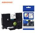 Absinic 5 шт. 11 7 мм HSe-231 термоусадочная трубка ленты черный на белом для кабеля волокна совместимы для Brother T-E300 PT-E500 PTE550W
