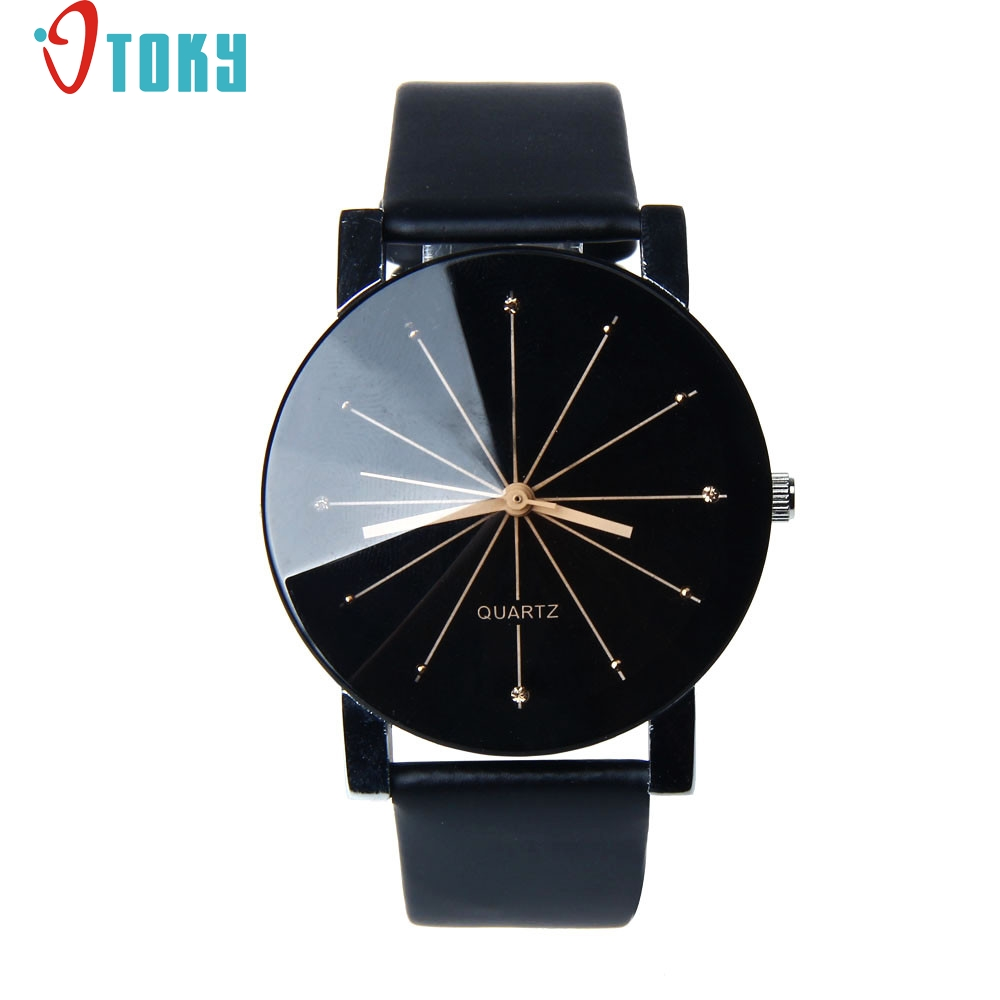 Creative Fashion 1PC Watch Men Dial Clock Leather Wrist Quartz-Watch,Casual watches,relogio masculino