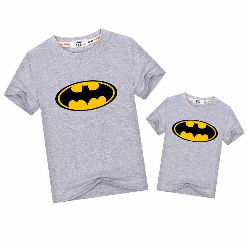 8627f5a2 ... Baby boy girls t-shirt Marvel Hero Logo tops family matching clothes  dresses dad son ...