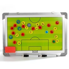 Aluminium Tactical Magnetic Plate for Soccer Coach Football Judge Board Traning Equipment Accessories