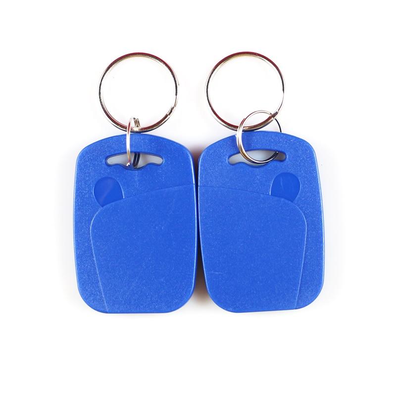 10pcs/lot Shipping Double Frequency 125KHZ &13.56MHZ EM5200+UID Changeable NFC IC Tag Rfid Keyfob Token Rewritable Keyfob