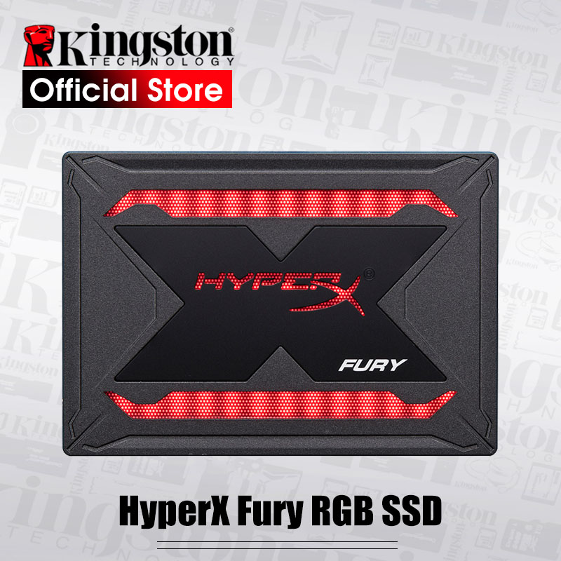 Kingston HyperX FURY RGB SSD 240gb 480gb 960gb Internal Solid State Drive 2.5 inch SATA III HDD Hard Disk Colorful light effect