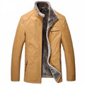 Stand collar A short paragraph Locomotive leather Jacket Business man Skin and fur Male leather  WXN026
