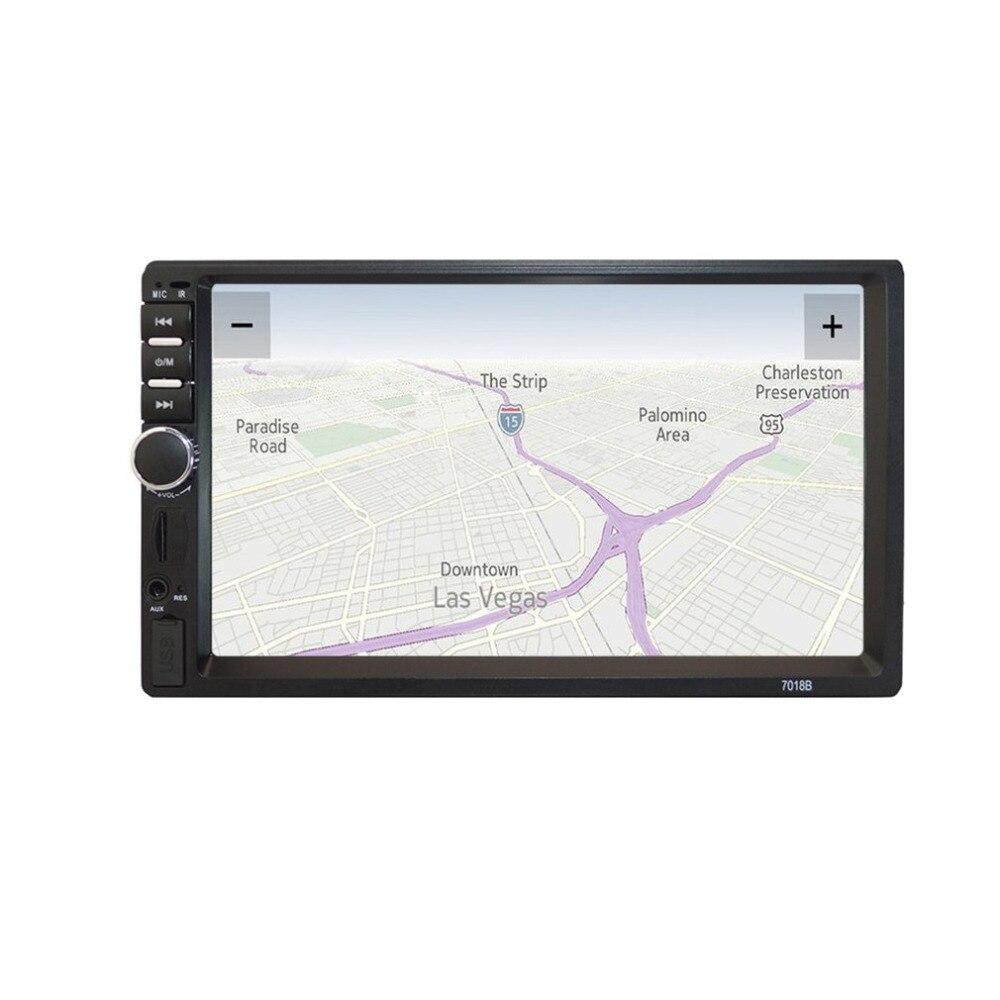 7-дюймовый HD MP5 Сенсорный экран Bluetooth в тире DVD 12 В 2 дин стерео радио FM Функция AUX USB MP3 MP5 плеер Поддержка TF