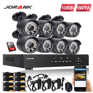 JORANK Cctv Security System HD 1080N 8CH DVR 8 PIECES 720 P IR CUT AHD 1.0MP CCTV Camera System 8 Channel Video Surveillance Kit