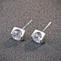 GZ 925 Silver Cute Earring Cubic Zircon S925 Sterling Silver boucle d'oreille Stud Earrings for Women Jewelry