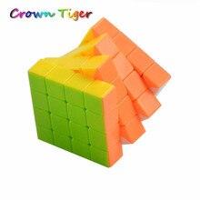Magic Cube 4x4x4 Мальчиков Головоломки Кубики Скорость Cubo Квадрат Головоломка Нет Наклейки Радуга детства Обучающие Игрушки классический для Детей