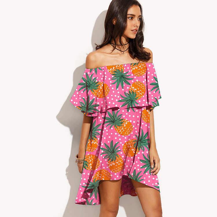 Купальник накидка для пляжа платье для женщин Ups купальный халат Coverup 2019 пройти новые летние свободные слово Led фруктовый принт ацетат