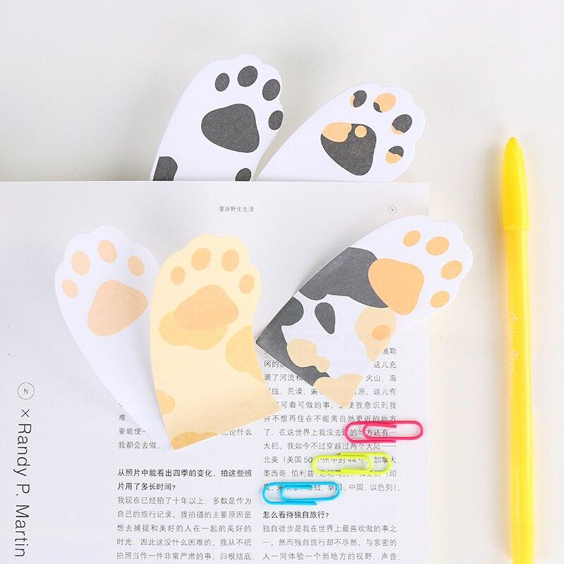 6 ədəd / Cute Cute pişik yapışqan - Qeyd kitabçaları - Fotoqrafiya 2