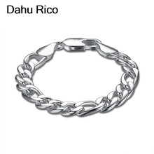 cb57aaac3460 10mm tres uno bransoletka pulsera donna para damas mens masculino plateado  nigeriano lima Perú regalos Dahu Rico pulseras