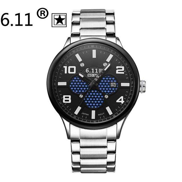 Top Fashion Brand 6.11 Luxury Watches Men Solar-powered watch sports Casual Wristwatch Male calendar Clock Relogio Masculino