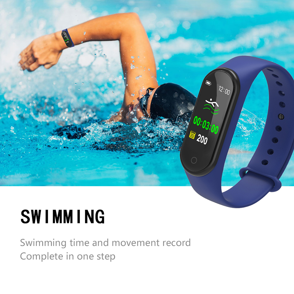 Swimming Smart Wristband Fitness Tracker Sports Heart Rate Monitor Color Screen Bracelet Blood Pressure Step Counter Message image