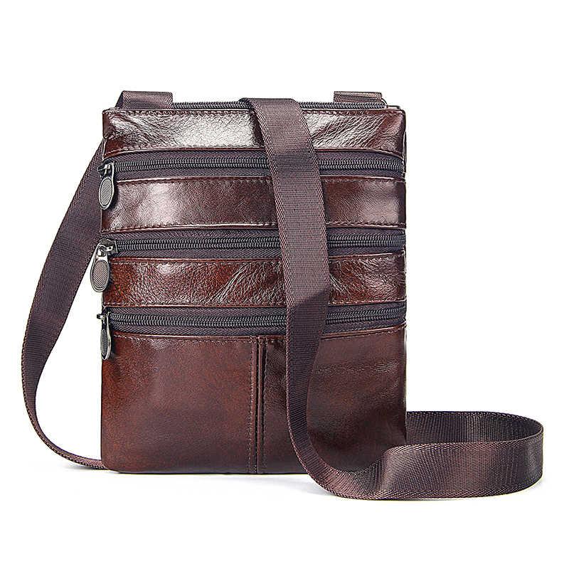 Luxe Messenger Bag Heren Schoudertas Echt Koe Lederen Tassen Flap Voor Mannelijke Man Tote Crossbody Tassen Voor Mannen Natuurlijke zakelijke Tas