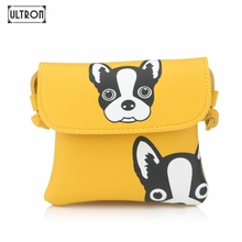 ULTRON Girls Animal Prints Hasp Shoulder Bags Students Mini Crossbody Pouch Children Cute Dog Handbags Baby Flap Packet