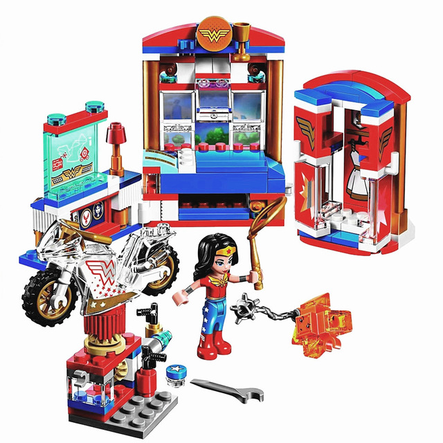 2018 New Compatible With Lego Super Hero Girls Wonder Woman Dorm Building Blocks Classic For Girl Kids Model Toys For Children