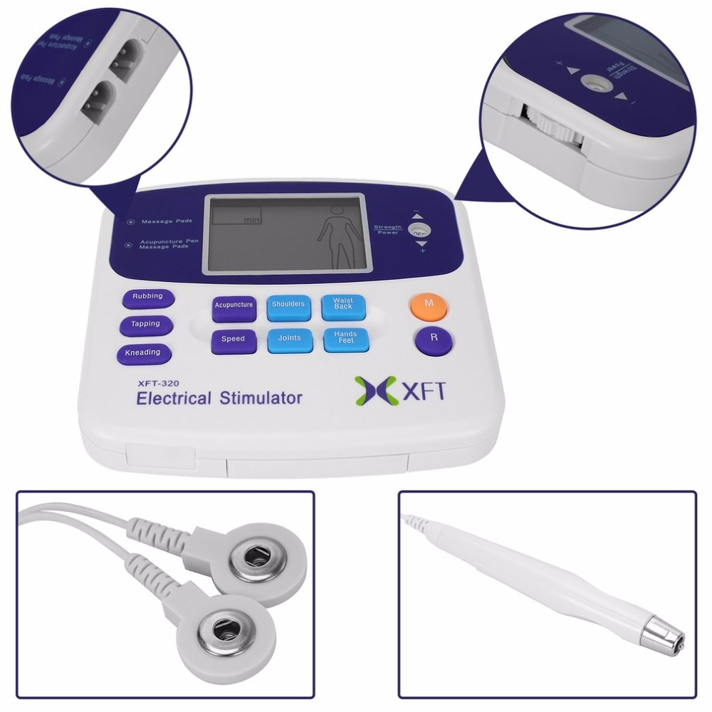 цена на Professional XFT-320 Electrical Stimulator Massager Dual Tens Machine Digital Massage Body Relaxation Drop Shipping