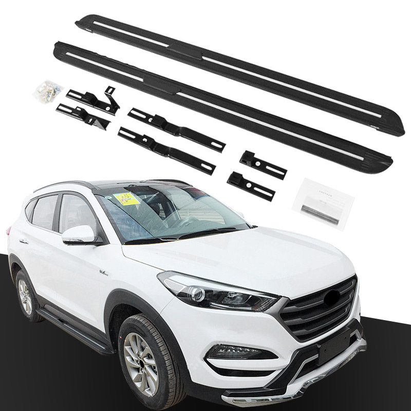 Pair Side Step FIT for Hyundai Tucson 2015 2016 2017 2018 2019 2020 Running Board Nerf Bar Platform Iboard image