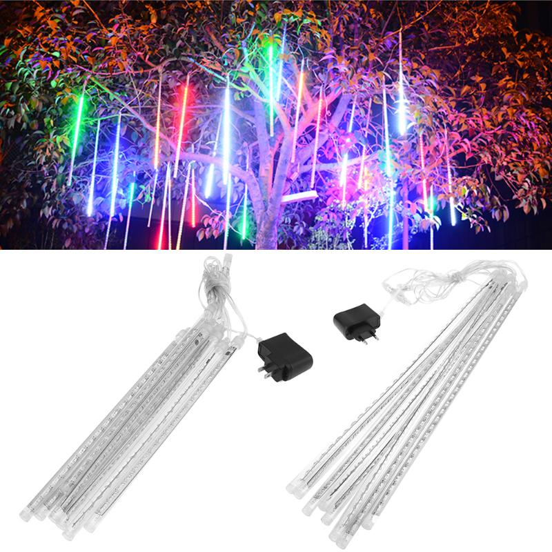 EU/US Plug Multi-color 30/50CM Waterproof Meteor Shower Rain Tubes LED Holiday Lights Wedding Garden String Light Outdoor Decor