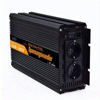 EDECOA 3000 Вт пик Мощность Инвертор 1500 Вт Чистая синусоида солнечный инвертор Мощность Bank конвертер 12 В ~ 220 В 230 В 240 В