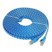 ALLOYSEED Cat7 Ethernet Cable Flat RJ45 Networking LAN Cords Jumper Gigabit Computer Copper Wire Network Cable e 5m/10m/15m