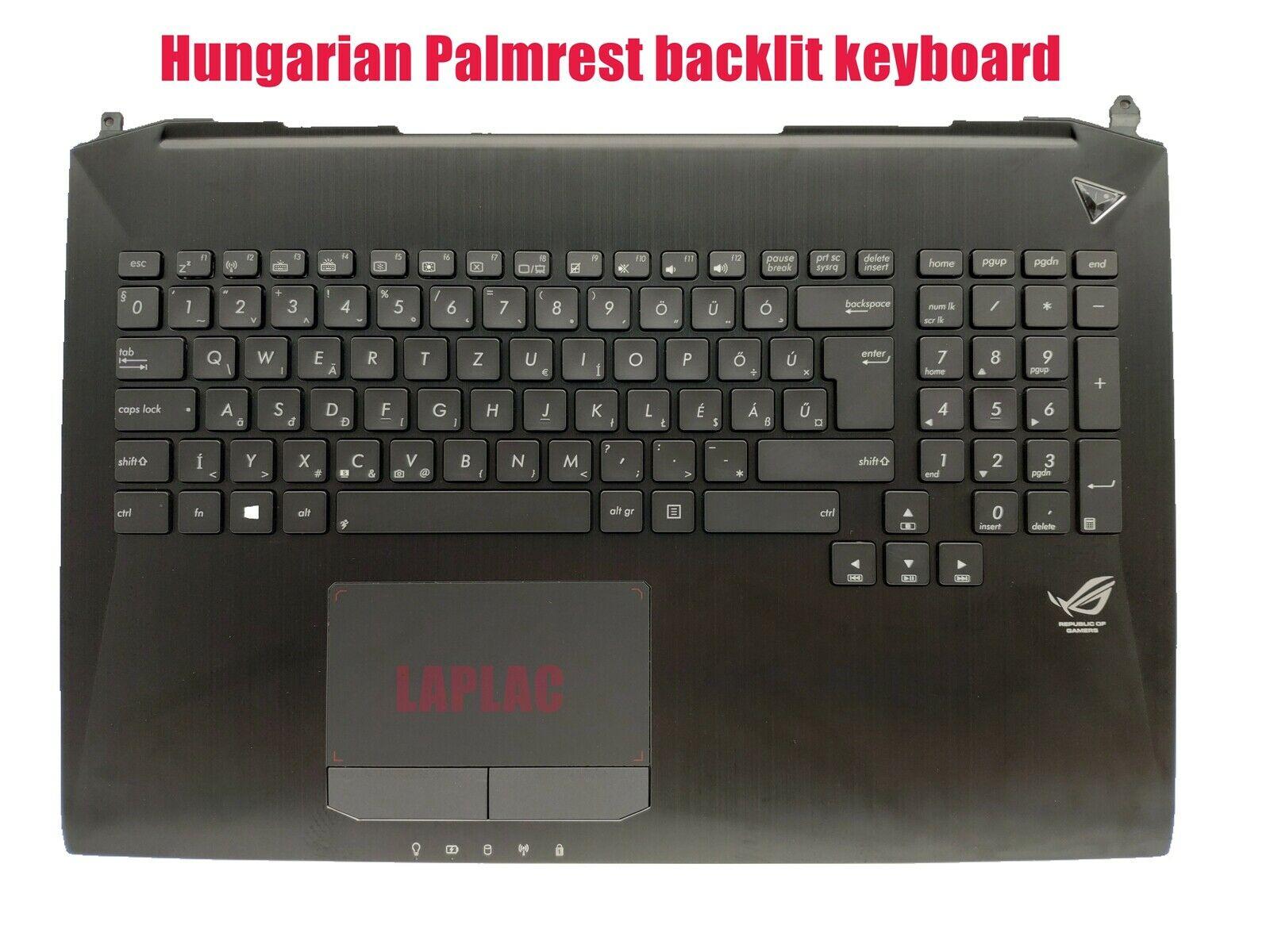 Magyar Hungarian Palmrest backlit keyboard for Asus G750JM G750JX G750JZ G750JY