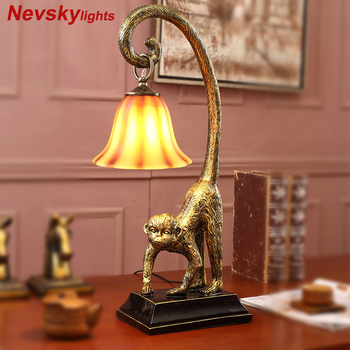 Monkey table lamp bedroom desk lamp for study table lights living room modern lighting for decor lamps for bedroom bedside lamp