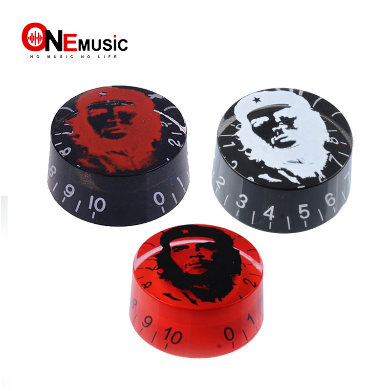 4pcs Colorful Platic Speed Control Knobs For Electric Guitar Guitar Pots Tone Volume Knobs Buttons With Guevara Che Easy To Repair