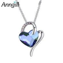 Женское модное ожерелье в популярном стиле с кристаллами сердца