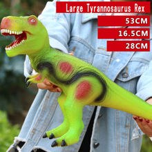 Simulation Soft Plastic Large Dinosaur Toy Electric Tyrannosaurus Animal Model Set Toys for Boys