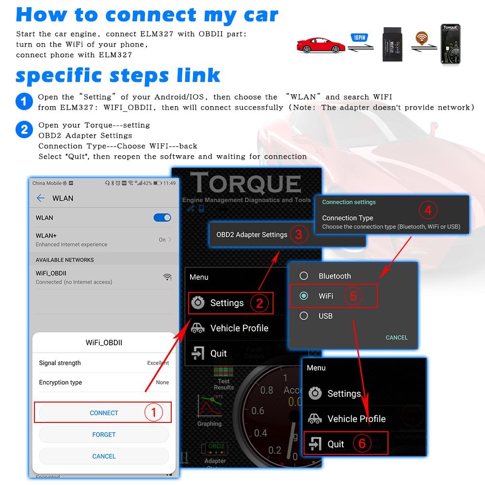 Image 3 - For Android/IOS ELM 327 V1.5 WIFI OBD2 Scanner ELM327 V1.5 wifi  OBD 2 OBD2 Car Auto Diagnostic Tool WI FI ODB2 OBDII Code Readercode  reader scannerelm 327 wifielm 327 -