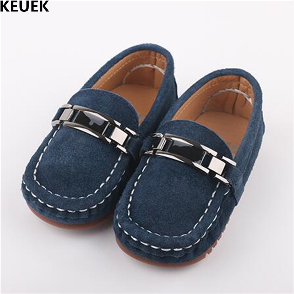 New Children Shoes Toddler Black Loafers Genuine Leather Shoes Baby Kids Moccasins Student Casual Flats 02