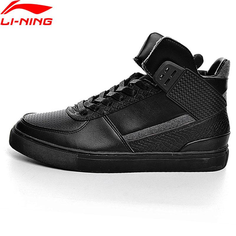 Li-Ning Men Walking Shoes Leisure LiNing Sports Shoes Breathable Sports Life High Upper Sneakers GLKM021 YXB065 original li ning men professional basketball shoes