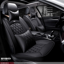for Lada Granta Largus priora kalina black red brand luxury car soft leather seat cover front &rear Complete set car seat covers цена 2017