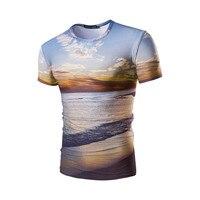 Dusk Pattern 3D Print Summer Men T Shirts 2017 New Fashion Short Sleeve O Neck Male
