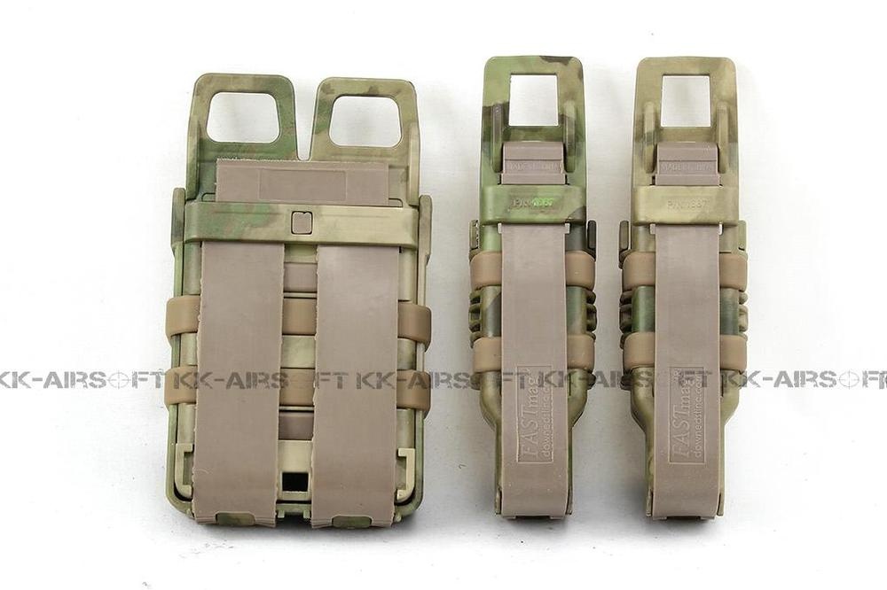Tactical Molle Magazine Pouch FAST Magazine Holster Pouch Set (A-TACS FG) Tb458