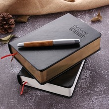 Vintage Black Leather Cover Bible Notebook Creative Luxury Believe Diary Journal Notepad Gift Office School Stationery Supplies цена
