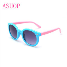 2019 new fashion childrens sunglasses round retro boy girl glasses classic high-end popular brand design UV400