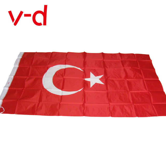 free shipping xvggdg 90 x 150cm turkey flag banner hanging national