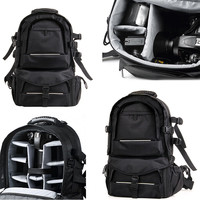 Black Large Capacity Camera Backpack Photo Camera Shoulders Padded Travel Backpack Bags With Multifunction Fashion