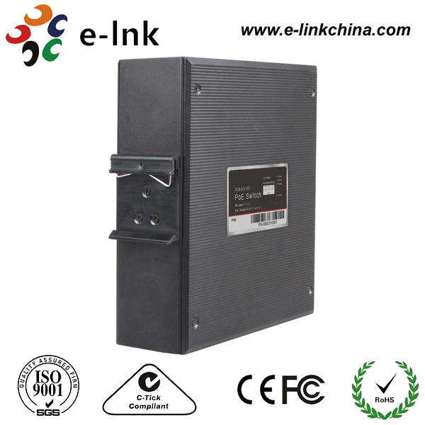 10/100 / 1000M 8TX + 2FX 30W PoE Industrial Ethernet - Kommunikationsutrustning - Foto 3