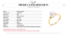 [DAIMI] Genuine Gold Ring Highest Luster Natural AAAA Pearl with18K Yellow Gold Diamond Gift DELICATE