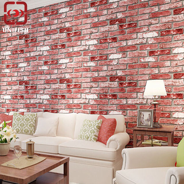 UniFish Vintage 3D Effect Natural Realistic Bricks Stone Brick Tile ...