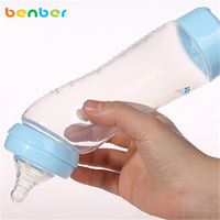 280ML Baby Bottles 3 Colors PP Silicone Baby Feeding Cup With Self Motion Straw Baby Water