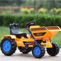 Child Ride on Excavator Toys Car Four Wheels Electric Construction Car for Kids Ride on Baby Large Engineering Toy Car 2 7 Years